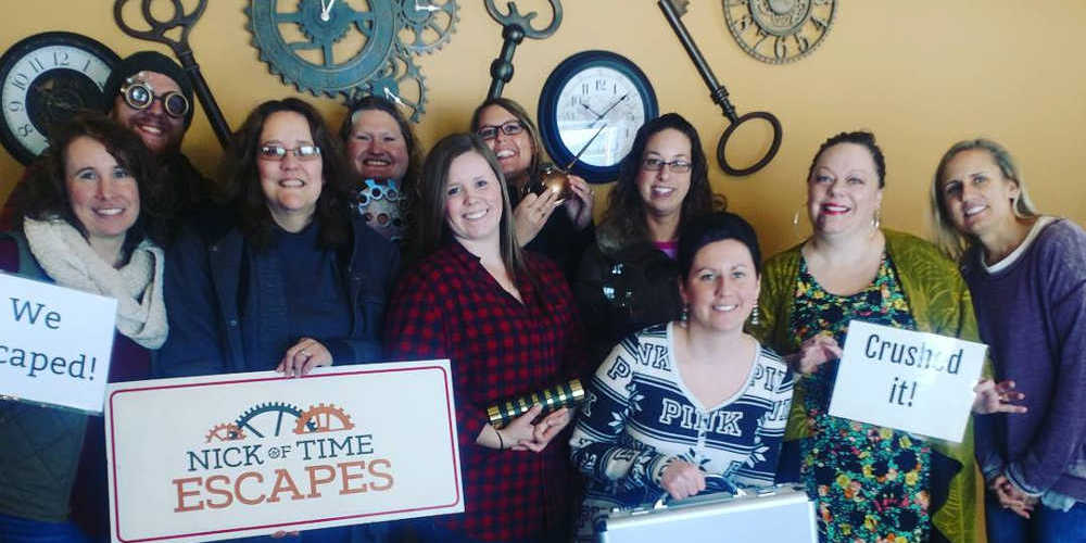 Team building at Nick of Time Escapes